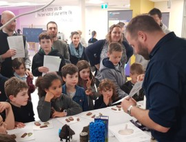 Kids Tim Tam slam in the name of science